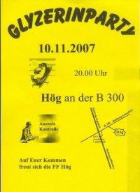 3 x 2 Freikarten für Glyzerinparty in Hög